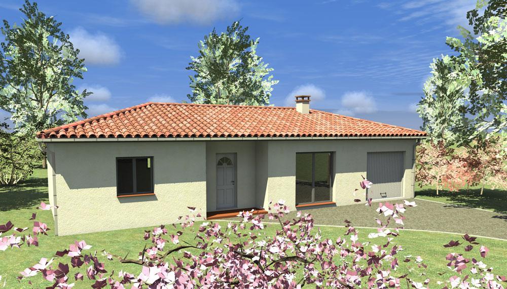 Maison individuelle de plain pied type Montechristo 70