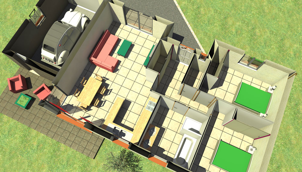 Villa individuelle de plain pied type Montechristo 70